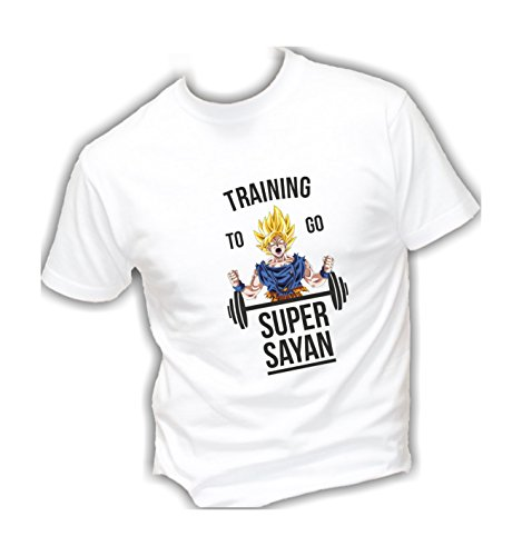 Cotone Basic Italy Go Made Sayan Training Crazy Super Qualità To Divertente T shirt Humor Top Bianco Vestibilità Uomo Social In IfWpn