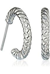 Avon Sterling Silver Twisted Hoop Earrings