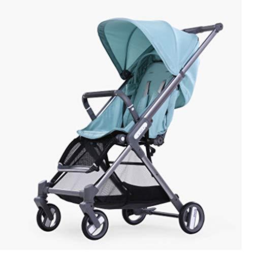 Stroller, Foldable Light Adjustable Backrest Baby Carriage, Large Storage Basket Pram YEC-529 (Color : -