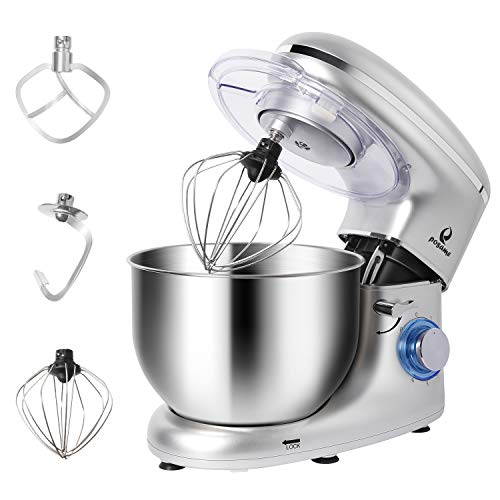 Cheap POSAME Stand Mixer Professional Kitchen Baking Mixer 660W 6-Speeds 6-Quart Stainless Steel Bowl Tilt-Head Electric Mixers Dough Mixer Cake Kneading Machine with Dough Hook, Whisk, Beater, Pouring Shield
