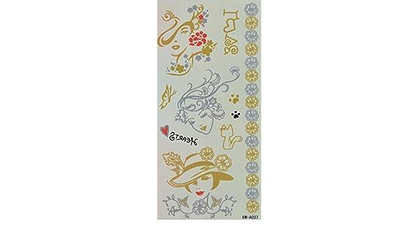 spestyle impermeable tatuajes Beautiful Lady cabeza, flores, amor ...