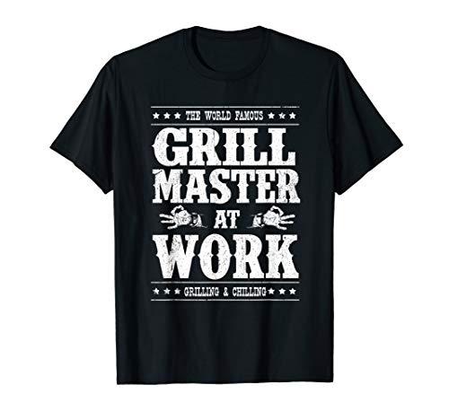 Grill Master Barbecue BBQ Smoker Grillin Dad Grandpa Gifts T-Shirt