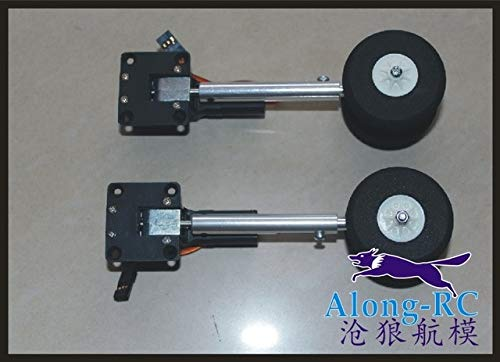 Jammas Sell:40g Retractable Landing Gear with Wheel for RC Hobby Plane Model Airplane WWII Plane Fighter - (Color: Two)