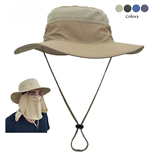 Turtle Tek Outdoors Fishing Hat/Sun Hat with Removable Neck & Face Flap, Waterproof UPF 50+ UV Sun Protection, Men Women…
