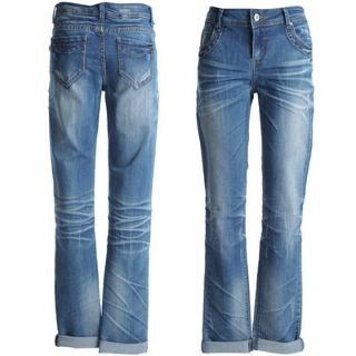 Voodoo Dolls Boyfriend Jeans Ladies Mid Wash 12 R: Amazon.co.uk ...