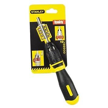 Stanley - Destornillador de carraca con puntas para tornillos de 10 ...
