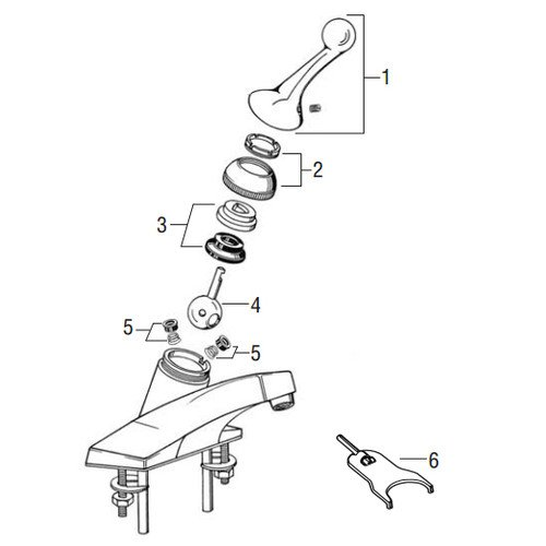 Heart Shaped Accessories - Delta Lav/Sink/Tub/Shower Rebuild Kit, Lever Handle (Chrome), (Pack of 5)