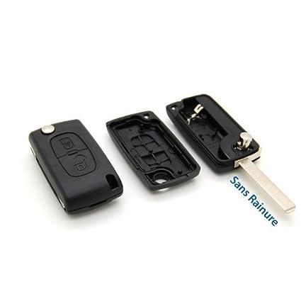 Carcasa llave Jongo mando 2 botones Citroen C1 C2 C3 C4 C5 sin ranura