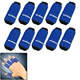 Blue 10PCS Sports Elastic Finger Sleeve Support Protector, Health Care Stuffs