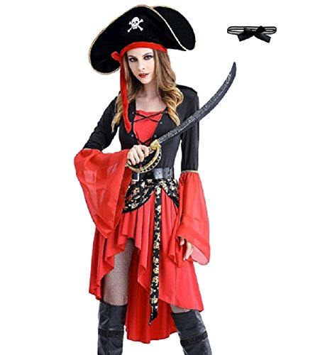 Photos Of Caribbean Carnival Costumes (SAKURA-S Women's Sexy Swashbuckler Pirate Costume (L))