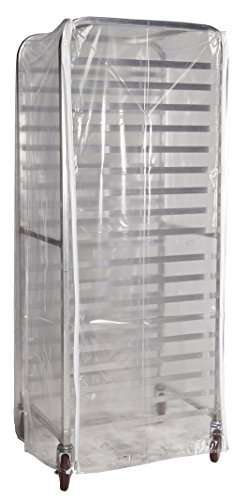 Winholt SRC-58/3Z Bun Pan Rack Cover, Heavy Duty Plastic, 3 Zippers, 23'' W x 28'' L x 61'' H, Clear by Winholt