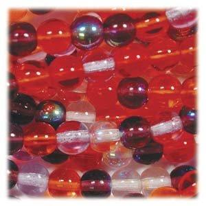 Melonberry MIX Czech 6mm Druk Beads Q.50