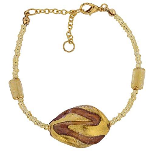 GlassOfVenice Murano Glass Royal Amethyst Spiral (Amethyst Murano Bracelets)