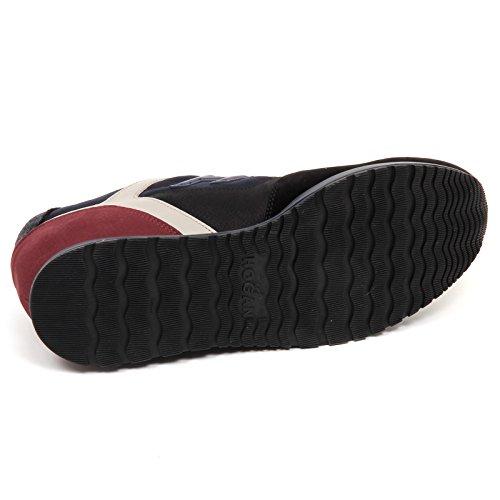 Hogan E4394 Sneaker Uomo Blu/Nero H321 Scarpe H 3D Shoe Man Nero/Blu