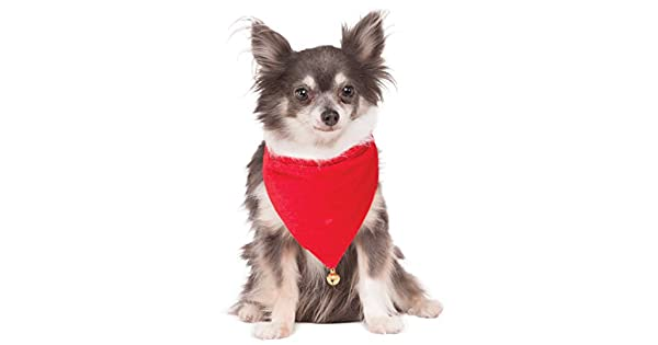 Amazon.com: Disfraz de Papá Noel de perro Bandana, S / M ...