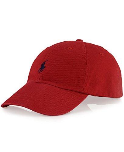 Polo Ralph Lauren Men/Women Cap Horse Logo/Adjustable,Black/Red,One Size