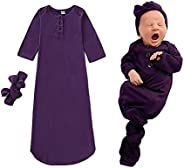 Bigbuyu Baby Boy Girl Take Home Outfit Baby Gift Set Baby Gown Newborn Cotton Nightgown Long Sleeve Baby Sleep