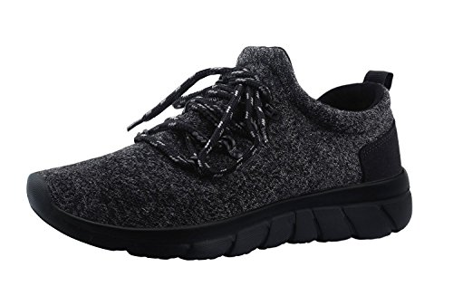 Men's Lightweight Fashion Outdoor Casual Sports Running Shoes (Black, 45)