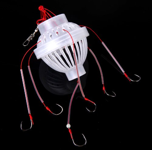 (New Plastic Fishing Tackle Sea Monster with Six Strong Spherical Carbon Steel Fishing Hook Hooks)