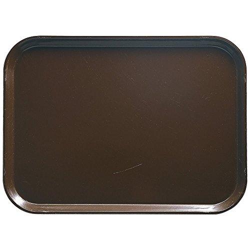 Brown Rectangular Camtray Fiberglass - Camtray, Rectangular, 4-15/16'' X 6-15/16'', High-Impact Fiberglass W/Aluminum Reinforced Edges, (12 Pieces/Unit)