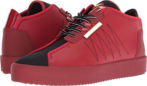 605fbc6e0a3ed Giuseppe Zanotti Men's May London Neoprene Mid Top Sneaker Red 42.5 ...