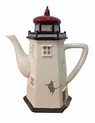 "Blue Sky Ceramic 15718 8""X5""X9.5"" Lighthouse Teapot"