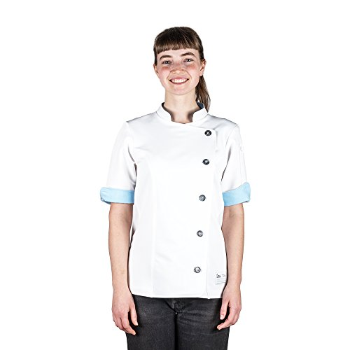 Crew Apparel Women's Chef Coat The Stephany Made in America (L, White) by Crew Apparel