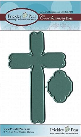 CLR032 /& PPRS-D032 Bundle 2 Items Prickley Pear Spring Crosses Clear Stamp and Die Set