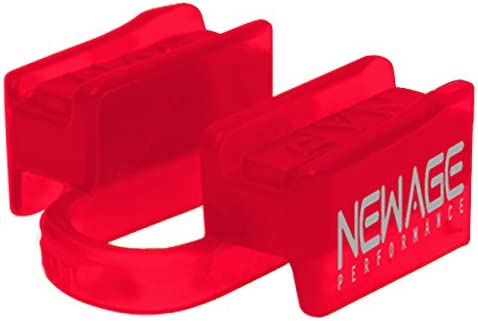 Lower Jaw No-Contact New Age Performance 6DS Sports and Fitness Weight-Lifting Mouthpiece Red Includes Case