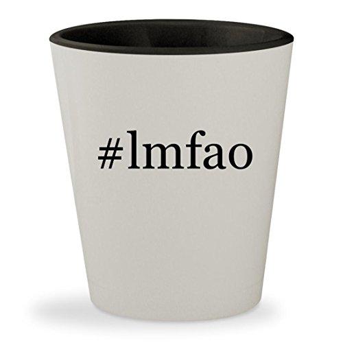 #lmfao - Hashtag White Outer & Black Inner Ceramic 1.5oz Shot (Lmfao Robot Head Costume)