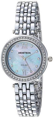 Armitron Women's 75/5623MPSV Swarovski Crystal Accented Silver-Tone Bracelet ()