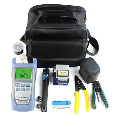 9 IN 1 FTTH Fiber Optic Tool Kit - comes with Instructions in English - Commercial (1 Cleaver)