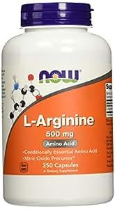 Amazon.com: NOW Foods L-Arginine 500mg, 250 Capsules ...