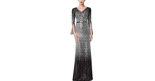 Amazon.com: JWI Vestido de mujer de manga larga con ...