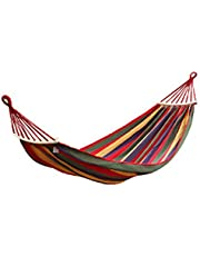 Camping Hammock, Anti-Rollover Hammock, Breathable, Small Storage Volume, Convenient to Carry, Suitable for: Travel, Beach, Backyard Size: 270 * 80Cm,Red
