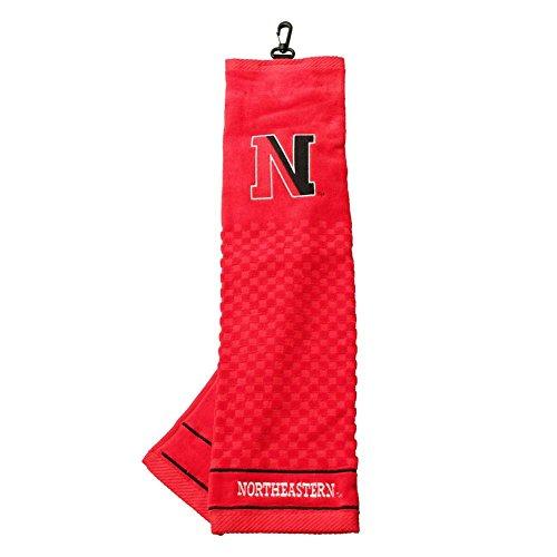 Northeastern University Huskies Embroidered Golf Towel by Team Golf (Image #1)