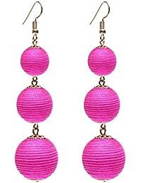 Thread Ball Dangle Earrings Thread Dangle Earrings Soriee Drop Earrings Beaded Ball Ear Drop