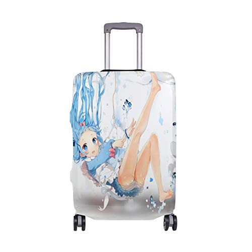"""Lovely Underwater Hatsune Miku Suitcase Cover Elastic Suitcase Cover Zipper Luggage Case Removable Cleaning Suitable For 18""""-20"""" Trunk Cover"""