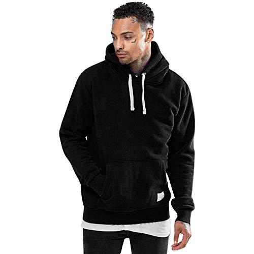 iLXHD Athletic Hoodies Fleece Pocket Warm Sweatshirt Outwear Sweater Pullover(Black,S)