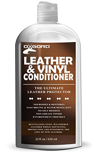 Leather Conditioner - 22oz Kit Restores Leather Vinyl Surface Lotion Cleaner Protector Moisturizer Care Treatment for Car Seat Furniture Shoe Boot Polish Upholstery Jackets Coat Handbags Sofa Purses