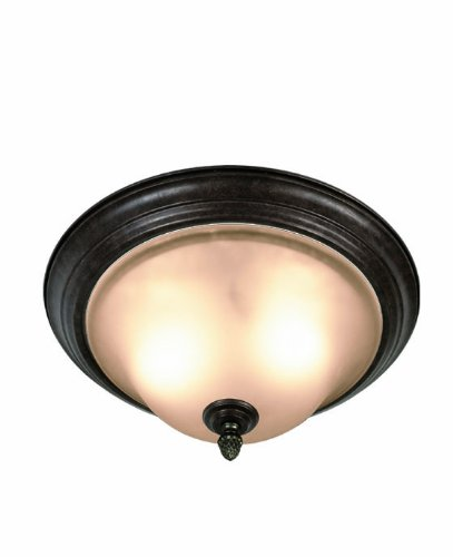 Woodbridge Lighting 31028-BOR Harrington 2-Light Flush Mount, (Bordeaux Flush Mount Ceiling Light)