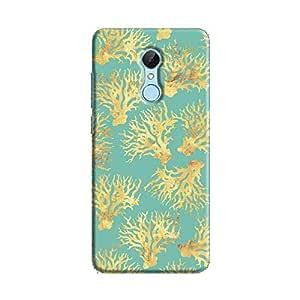 Cover It Up - Blue Gold Nature Print Redmi 5 Hard Case