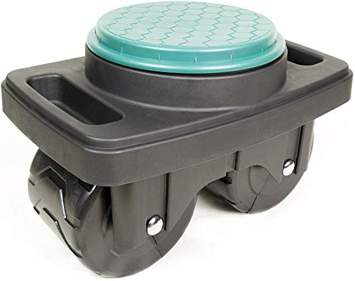 BUNKERWALL Mobile Garden Scooter - Rolling Swivel Seat with Built-in Storage BW4419 by BUNKERWALL