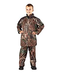 boys Childrens Camouflage Waterproof Rain Suit Coat & Trousers Pants Jacket Set