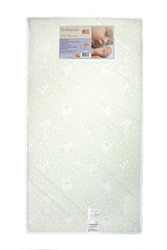 Big Oshi Full Size Baby Crib and Toddler Bed Mattress - 4'' Thick - Includes Waterproof Cover to Make Clean up Easy - Safe, Non-Toxic Material - For Boys and Girls - White, 52''x27.5'' by Big Oshi