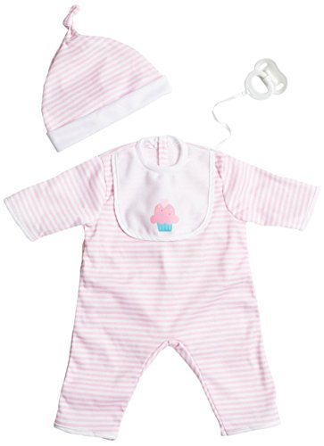 17 Inch Doll Clothes - JC Toys Pink Stripe Romper (up to 20