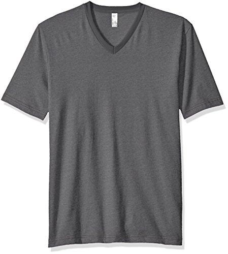 (American Apparel Men's Fine Jersey Short Sleeve Classic V-Neck T-Shirt, Asphalt, X-Large )