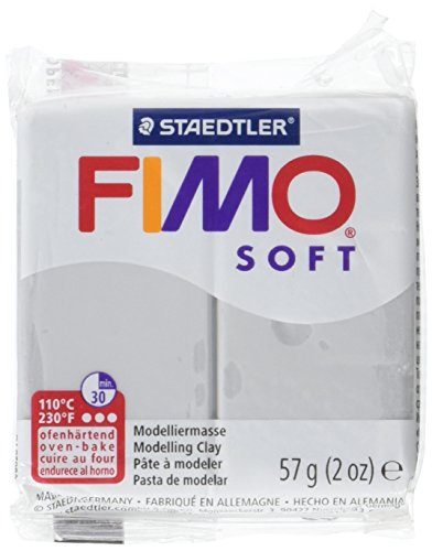 STAEDTLER Fimo Soft Polymer Clay 2 Ounces-8020-80 Dolphin Gray