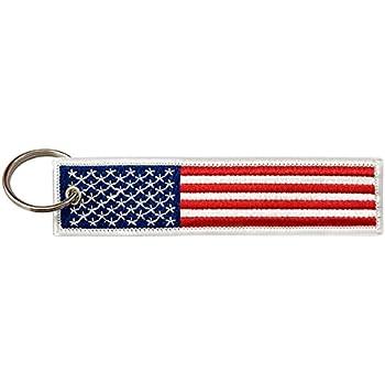 Keychain key ring tags fabric car biker flag american flag usa united states