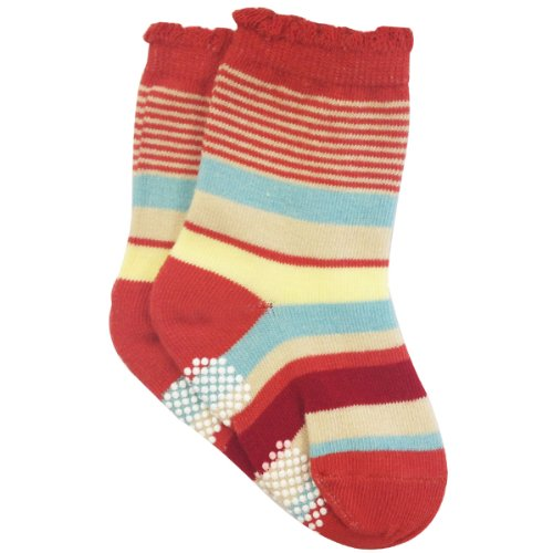 Wrapables Peek A Boo Animal Non-Skid Toddler Socks (Set of 6), Small